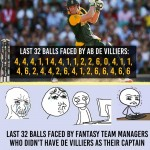AB De Villiers innings and fantasy league managers – pity them