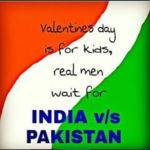 Kids vs men on Valentines day vs India Pak match