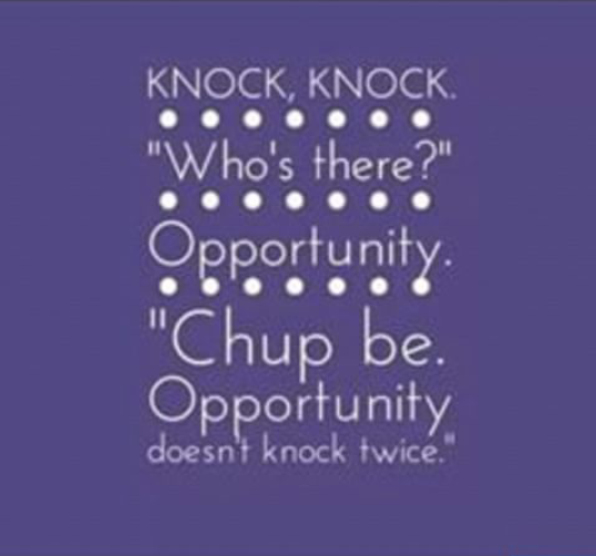 opportunity never knocks twice essay (about man, opportunity) opportunity never knocks twice at any man's door more latin proverbs: oppose not a hungry man latin.