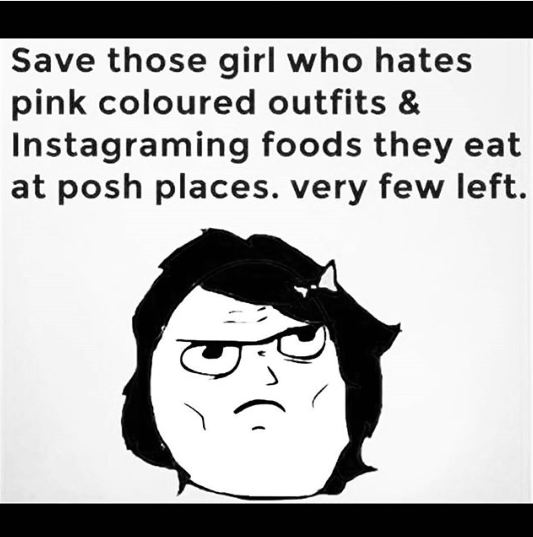 save girls who hate pink and sharing instagram photos