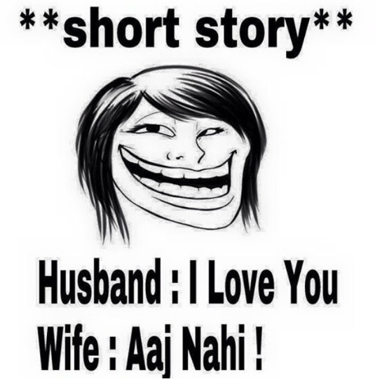 Wife's best reply to husband's - I love you - Jokofy Pictures Gold And White Indian Dress