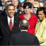 Mystery woman in president Obama swearing ceremony