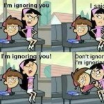 I am ignoring you – Girl trolled