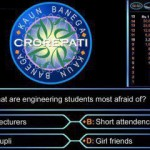 KBC – What are engineering students most afraid of?