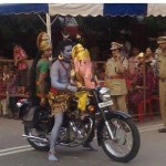 God Shiva Family on Bike