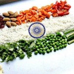Indian Flag – Tiranga made by Vegetables