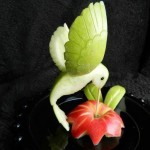 Creative Bird made of Fruits