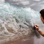 Realistic Sea Waves Painting