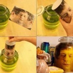 Creative 3D photo in Jar