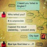 You Failed In English