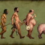 evolution of man – eating and enjoying is the motto of life