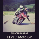 Swach Bharat level moto GP – clean India badge india