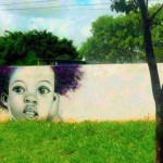 Grafitti – guess from where the tree starts