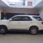 Toyota Fortuner parked perfectly