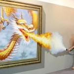 See how a brave and hot girl escapes from a dragon