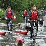 Cycling with boating – exercise plus fun