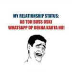 Relationship between whatsapp dp and heart broken people