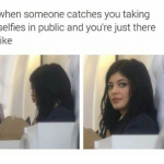 When you are caught taking self obsessed selfies