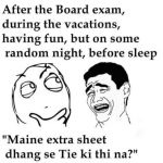Extra sheets during exams