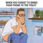 Imagine the sadness of the toilet time without whatsapp