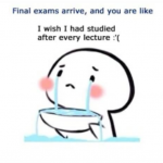 The condition of every student before the final exams