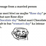 Message from a married person