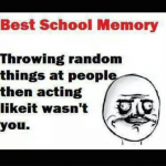 The best time pass at school