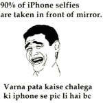 These selfies are taken for the person or the i phone