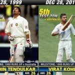One of the biggest coincidence – Sachin Tendulkar and Virat Kohli