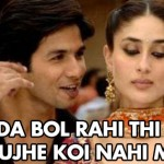 Shahid kapoor to kareena kapoor after his marriage