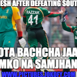 Bangladesh after defeating South Africa