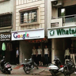 Only place where whatsapp google and playstore are side by side