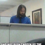 A person claimed – jesus works at his office