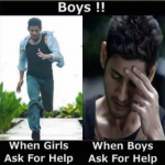 Boys reaction when hot girls ask for help