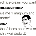 How people purchase ice cream in different countries vs India