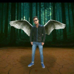 The man who can fly with his wings