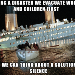During a mishap why do we evacuate women and children first?