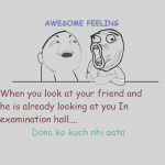 Best friend in exam – Funny picture