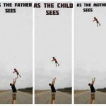 This is how mother sees when father plays with child