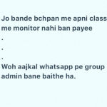 Whatsapp group admin – funny hindi joke