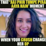 When your crush changes whatsapp DP – love