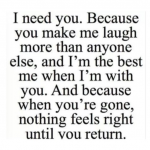 I need you – beautiful quote image