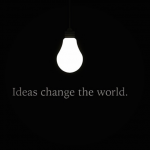 Ideas change the world – mind blowing image