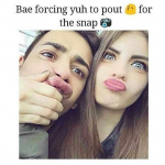 When bae force you to pout – bae funny image
