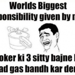 Worlds biggest responsibility given by mom – whatsapp image