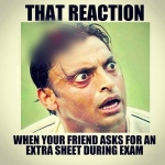 Exam extra sheet your reaction friend – whatsapp image