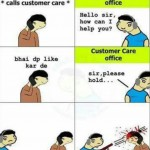Facebook profile picture like customer care office – funny meme
