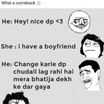 Now that's called a comeback boyfriend – funny image