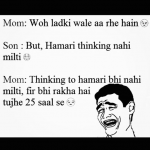 Son mom conversation over ladki wale – hilarious meme