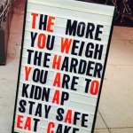 Stay fit stay safe eat cake be healthy – workout image